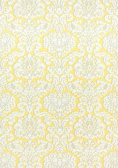 TRELAWNY DAMASK, Yellow, F914216, Collection Imperial Garden from Thibaut
