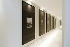 Hallway like a gallery...Gorgeous framing.
