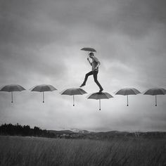 Rain Walk by Joel Robison- I am a sucker for a scene with umbrellas
