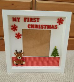 Check out this item in my Etsy shop https://www.etsy.com/ie/listing/486824631/my-first-christmas-frame