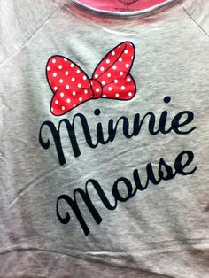 I saw this shirt at target :) and I love Minnie Mouse :). Thought its was cute :)