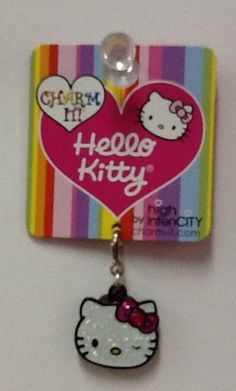 Hello Kitty Glitter Charm: $4.99.  For more information or to check availability, call or email Polka Dots. 916-791-9070. polkadotsproshop@gmail.com