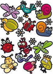 Småkryp  http://www.barndekor.se/collections/wallstickers/products/wallstickers-insekter-ws0252