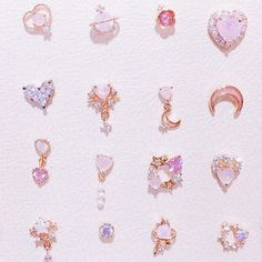 Kawaii Accessories, Jewelry Accessories, Fashion Accessories, Cute Necklace, Cute Earrings, Stylish Jewelry, Cute Jewelry, Cute Korean Fashion, Fashion Earrings