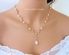 Wedding Necklace Pearl Rose Gold Y Bridal VINE LEAF BACKDROP Cubic Zirconia Maid of Honor Mother of the Bride Hochzeit Halskette Perle Rose Gold Y Braut Reben Blatt Backdrop Zirkonia Trauzeugin Mutter der Braut Jewelry (Visited 10 times, 1 visits today) Bride Necklace, Pearl Necklace Wedding, Wedding Earrings, Wedding Jewelry For Bride, Wedding Necklaces, Mother Necklace, Pearl Necklace Vintage, Vintage Wedding Jewelry, Wedding Gold