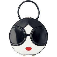 Designer Clothes, Shoes & Bags for Women Alice Olivia, Mini Bag, Black And White, Shoe Bag, Face, Accessories, Polyvore, Shoes, Color