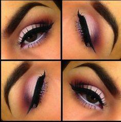 maquillaje de ojos azul con rosa - Buscar con Google