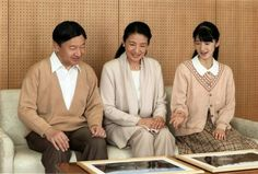 Photosof Crown Princess Masako, with her husband and daughter, taken on the occasion of her 53rd birthday today.