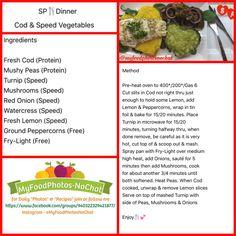 Slimming world Cod & Speed Vegetables EE SP