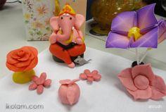 Color clay dough Ganesha Diy Clay, Clay Crafts, Ganpati Decoration Design, Raksha Bandhan Greetings, Clay Ganesha, Ganesha Drawing, Ganapati Decoration, Ganesh Idol, Rangoli Colours