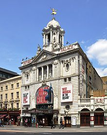 The (former) facade of the Victoria Palace Theatre, London.