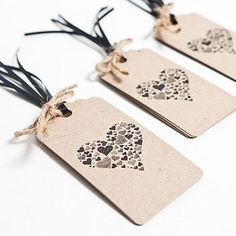 Heart tags...