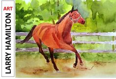 Collaborator's Challenge # 04 Watercolor painting of a horse. August 29,...