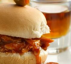 This 5-star recipe is one of Betty's most popular sandwiches! Sliders are great for game day because your guests can sample a bunch of flavors—and they won't be too full to enjoy the other treats. This delicious sauce is made even better (and boozier) with the addition of whiskey and beer.