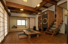 Modern Japanese interior with clean elements.