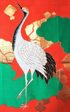 Japanese Vintage Silk Kimono Fabric  by Orientalvintage88 on Etsy, £55.00