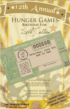 hunger games birthday party printables (perfect for my cousin Erics next party??)