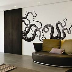 Octopus-Tentacle-Wall-Decal-Motivation-Sea-Monster-Squid-Room-Vinyl-Mural-Decor
