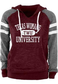 Product: Texas Woman's University  Women's Hooded Sweatshirt