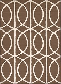 Trellis Brown Area Rug