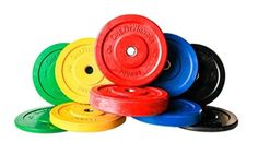260 lbs Color Bumper Plates Olympic Weight Plates For Crossfit by OneFitWonder #OneFitWonder