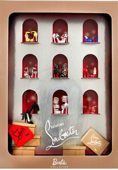 I once saw a a coffee mug that said I want to be like Barbie that b* has everything! Louboutin Barbie shoe collection...Really? A doll has better shoes than me?