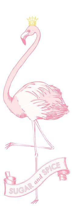 Large Flamingo sign for baby nursery or by ChocolateButterbean