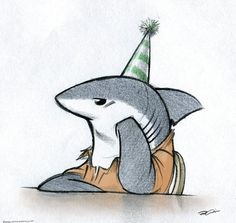 Birthday Shark by RobtheDoodler on deviantART