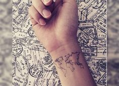 27 Awesome Tattoos For The Travel Nerd In All Of Us - Swifty.com