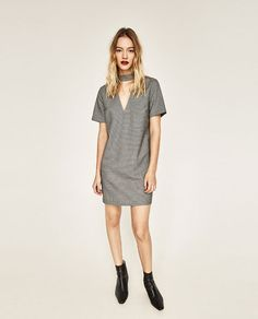 Image 1 of DRESS WITH CHOKER NECK from Zara