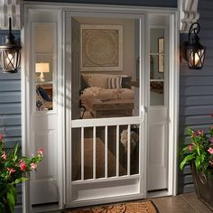 Kimberly Bay Classic, sleek open top design for unobstructed views of the outdoors and letting in natural light. Enhance any home style with PCA custom handcrafted aluminum screen doors. Built to hold up to everyday use, kids and pets. Screened Porch Doors, Patio Doors, Entry Doors, Outdoor Doors, Storm Doors With Screens, Windows And Doors, Front Door With Screen, Front Storm Door Ideas, Mesh Screen Door