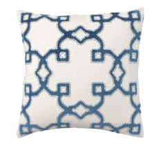 Preppy basics are the building blocks of chic style. This fresh pattern adds soft texture to a pillow mix. Applique Pillows, Throw Pillows, Preppy Basics, French Country Living Room, Cool Books, Free Interior Design, Cotton Velvet, Pottery Barn, Furniture Decor