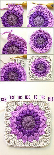 Transcendent Crochet a Solid Granny Square Ideas. Inconceivable Crochet a Solid Granny Square Ideas. Crochet Blocks, Granny Square Crochet Pattern, Crochet Squares, Crochet Granny, Crochet Motif, Granny Squares, Granny Granny, Crochet Poncho, Love Crochet
