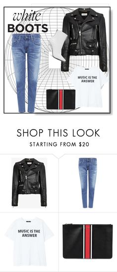 """""""white bots 1"""" by natyapshopper on Polyvore featuring moda, Yves Saint Laurent, AG Adriano Goldschmied, MANGO, Givenchy y Alexander Wang"""