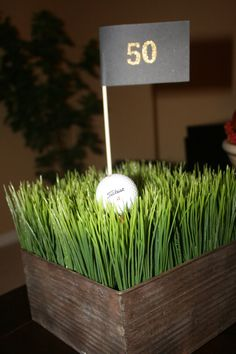 Golf Center Piece by EightyEightFloors on Etsy, $88.00