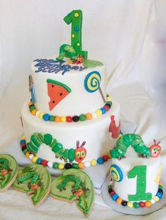 The Hungry Caterpillar--smash cake idea