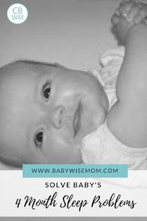 How to Solve Your Baby's 4 Month Sleep Problems. Get your four month old sleeping well. #babysleep #sleepregression #sleeproblems #baby #sleeptips