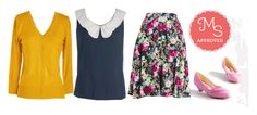 """""""With Books to Match Skirt in Roses"""" by modcloth ❤ liked on Polyvore"""