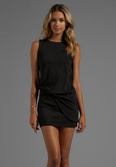 "SUSANA MONACO Light Supplex Mika 17"" Dress in Black - Dresses"