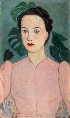 Einar Jolin: Portrait of a Lady in Pink, 1939