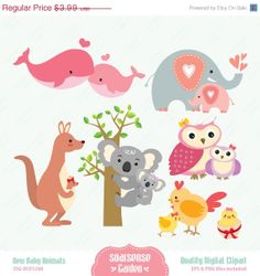New Baby Animals Digital Clipart