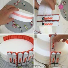 Cake topper di Halloween per una torta di barrette Kinder - Caseperlatesta - How to make a Kinder cake – Caseperlatesta - Candy Birthday Cakes, Candy Cakes, Friend Birthday Gifts, Diy Birthday, Homemade Gifts, Diy Gifts, Don D'argent, Candy Arrangements, Money Cake