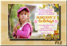 Birthday Invitation Girl Birthday Invitations by DigitalitemsShop