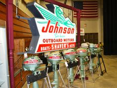 Johnson outboards and sign