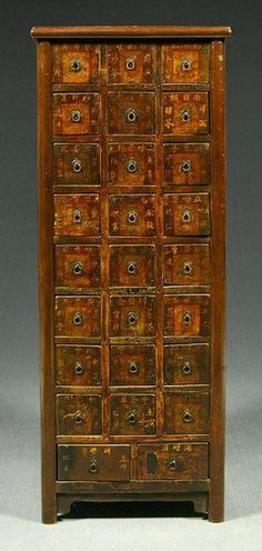 26 Drawer Chinese Apothecary Cabinet