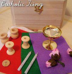 DIY Mini Mass Kit for Kids from Catholic Icing.