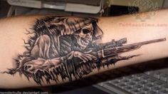 Grim reaper with a rifle