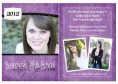 graduation announcements | Custom High School Graduation Announcements {Tulsa area senior ...