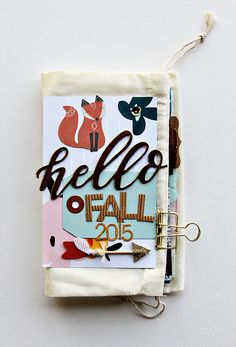 Hello Fall 2015 Mini Book, by Alissa Fast using the Momento collection from…