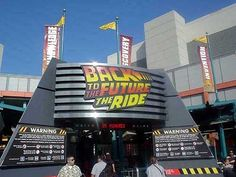 "And the ""Back to the Future"" ride. 